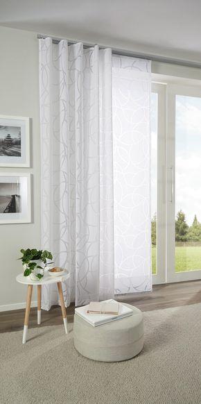 Hübscher Vorhang mit zartem Muster in Weiß von ESPOSA Vorhänge