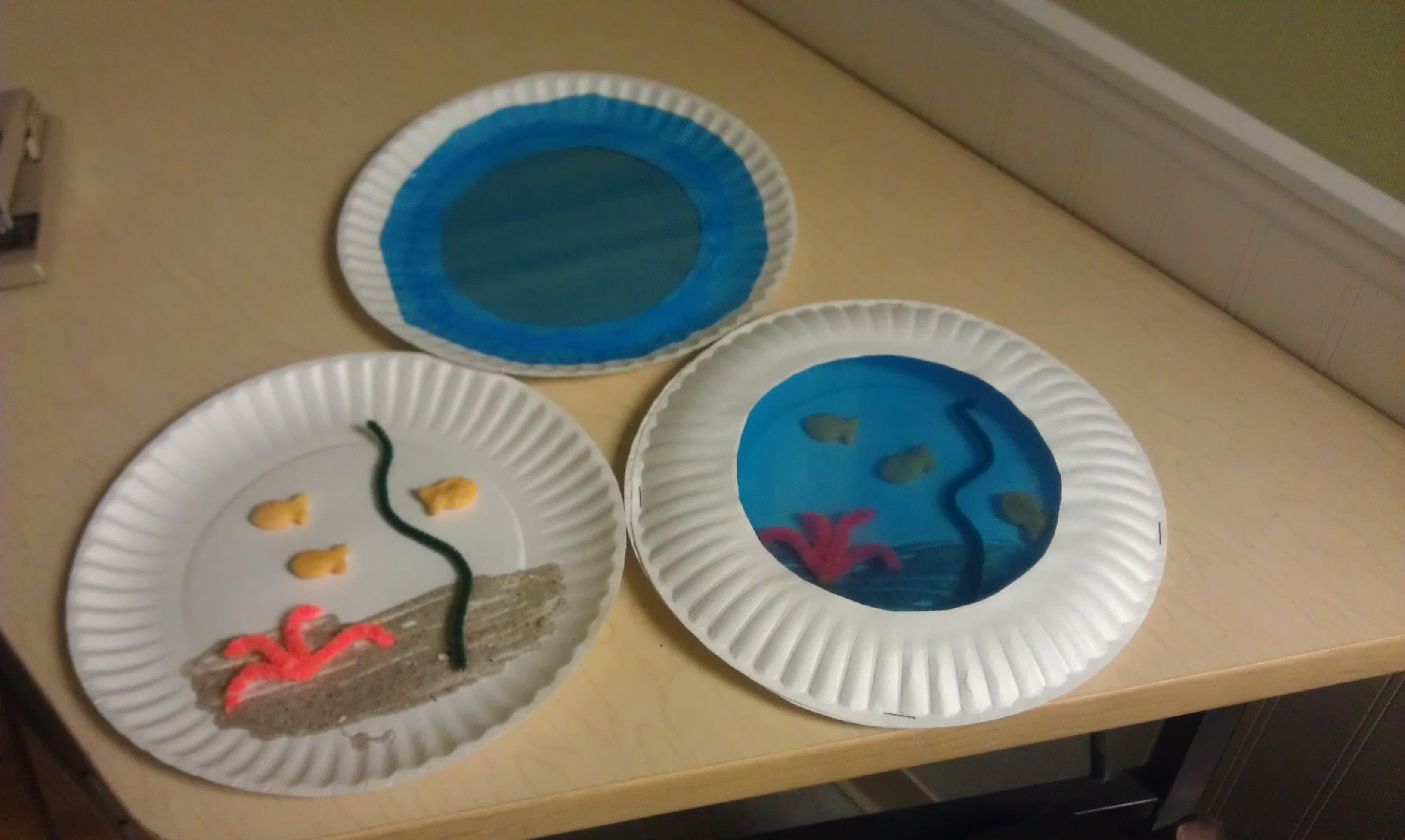 Paper Plate Aquarium Ybe One Pno Could Be Finding Nemo