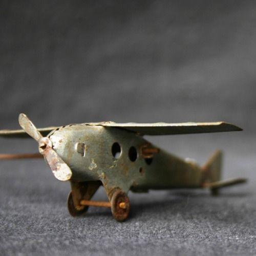vintage toy airplane