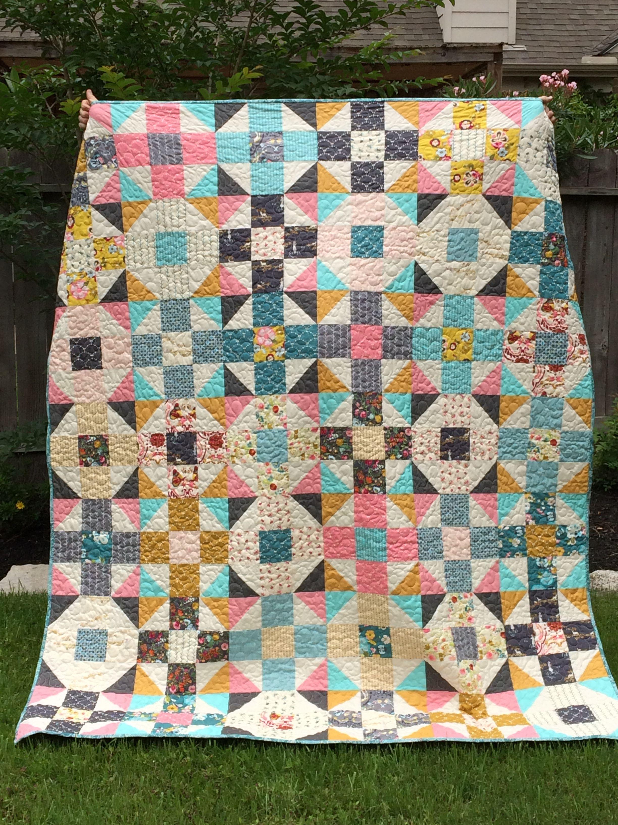 Mod 9 patch; Emmy Grace fabric