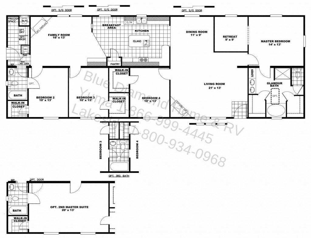 Two Master Bedroom House Plans In 2020 Ranch House Floor Plans Single Level House Plans Bedroom Floor Plans