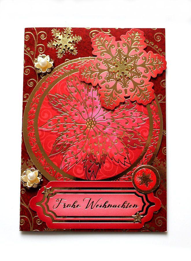 3d weihnachtskarte frohe weihnachten rot gold. Black Bedroom Furniture Sets. Home Design Ideas
