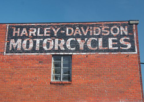 Harley Davidson Motorcycles Photography Ghost Signs