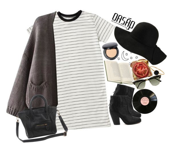 """""""Untitled #2340"""" by sisistyle ❤ liked on Polyvore featuring rag & bone, MAC Cosmetics, Ray-Ban and Ginette NY"""