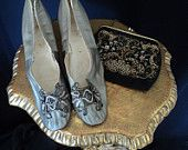 Antique shoes and purse