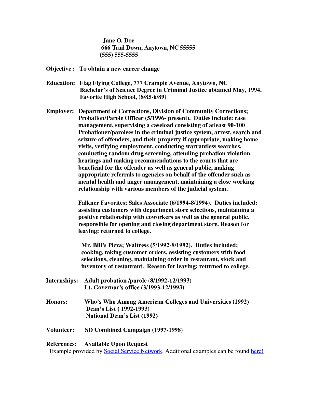 Resume Objectives For Restaurant Juvenile Detention Officer Resume Objective  Httpwww .
