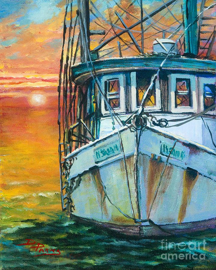 Gulf Coast Shrimper Painting In 2019 Louisiana Art Boat