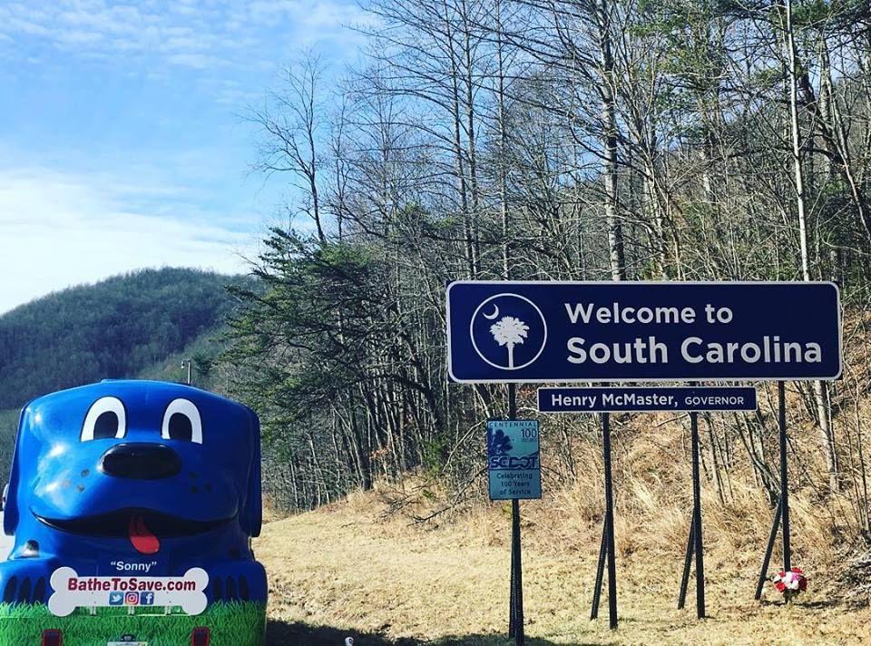 South Carolina hydrodog dogs bathetosave tour
