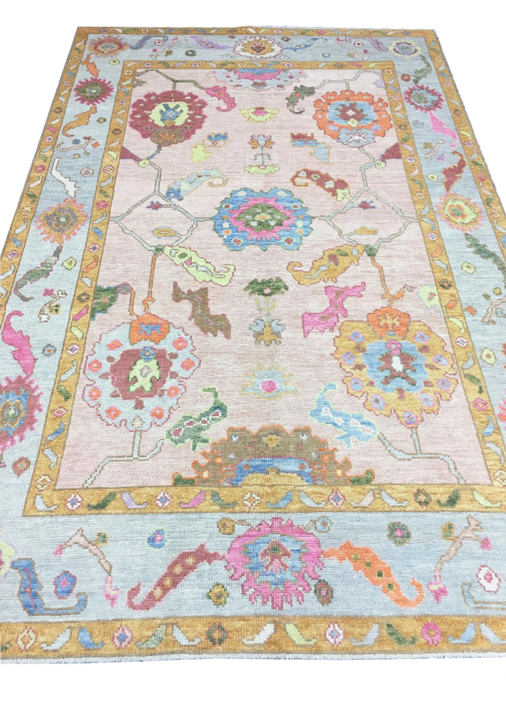Hand Knotted Oushak Area Rug 18 In 2020 Area Rug Collections Area Rugs Rugs