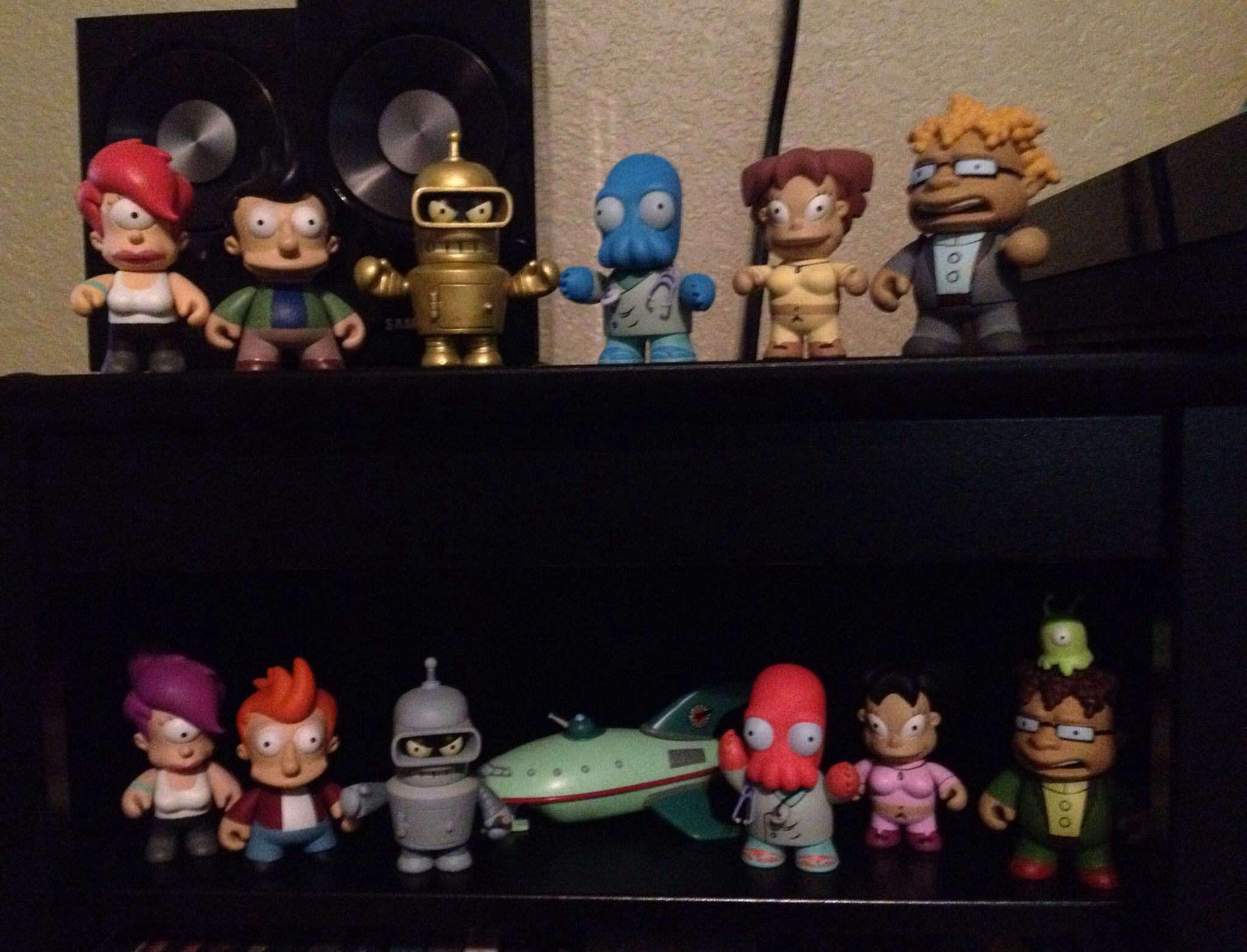 Kidrobot Futurama Custom Alternate Universe Bender, Fry, Leela, Zoidberg, Amy, & Hermes