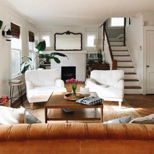 Tolle Stilkombination mit hellen Farben Gestaltung Wohnzimmer