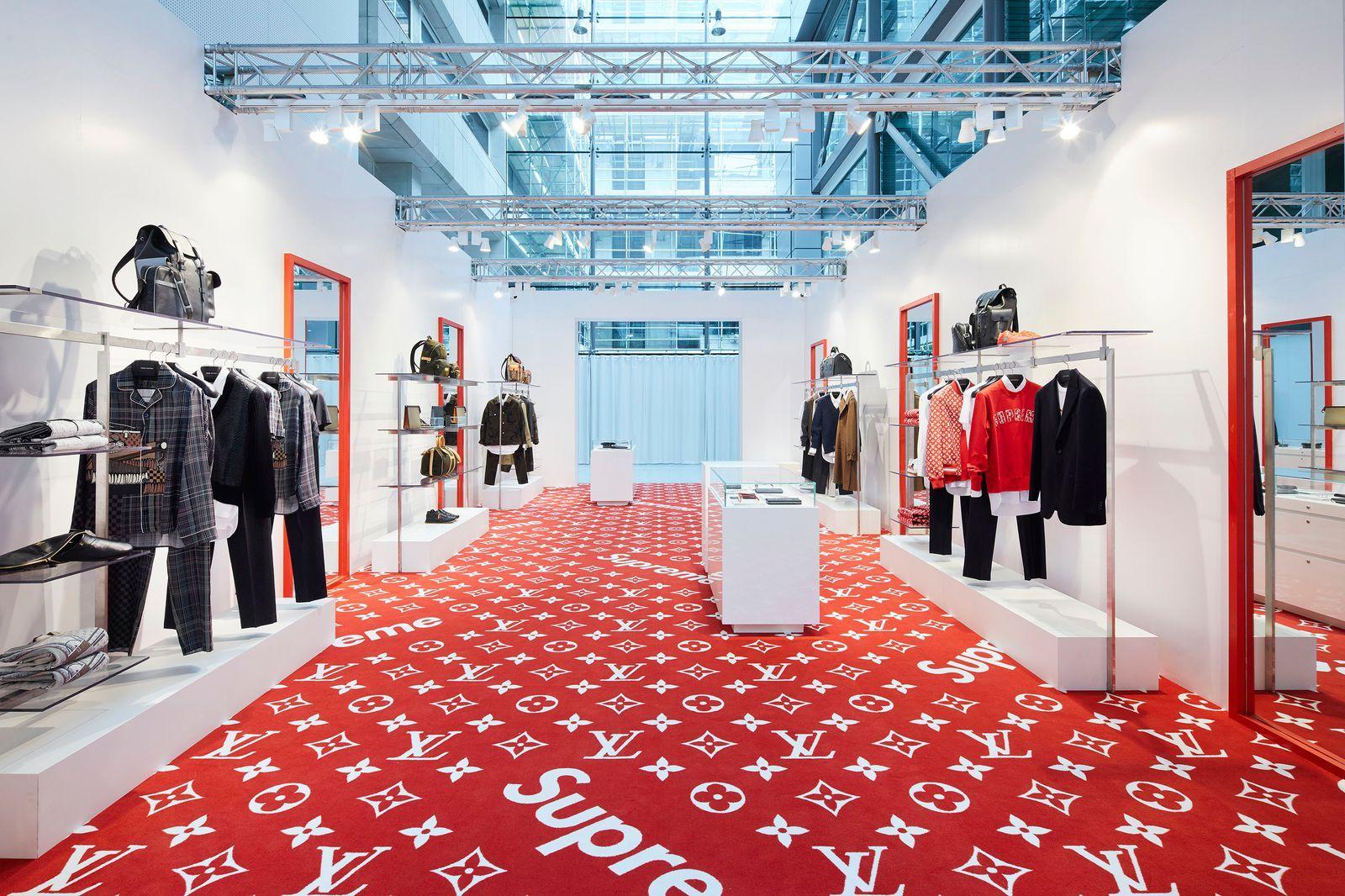 Behold  Louis Vuitton s Supreme pop-up store has arrived in London-  HarpersBAZAARUK 735f3eeaff