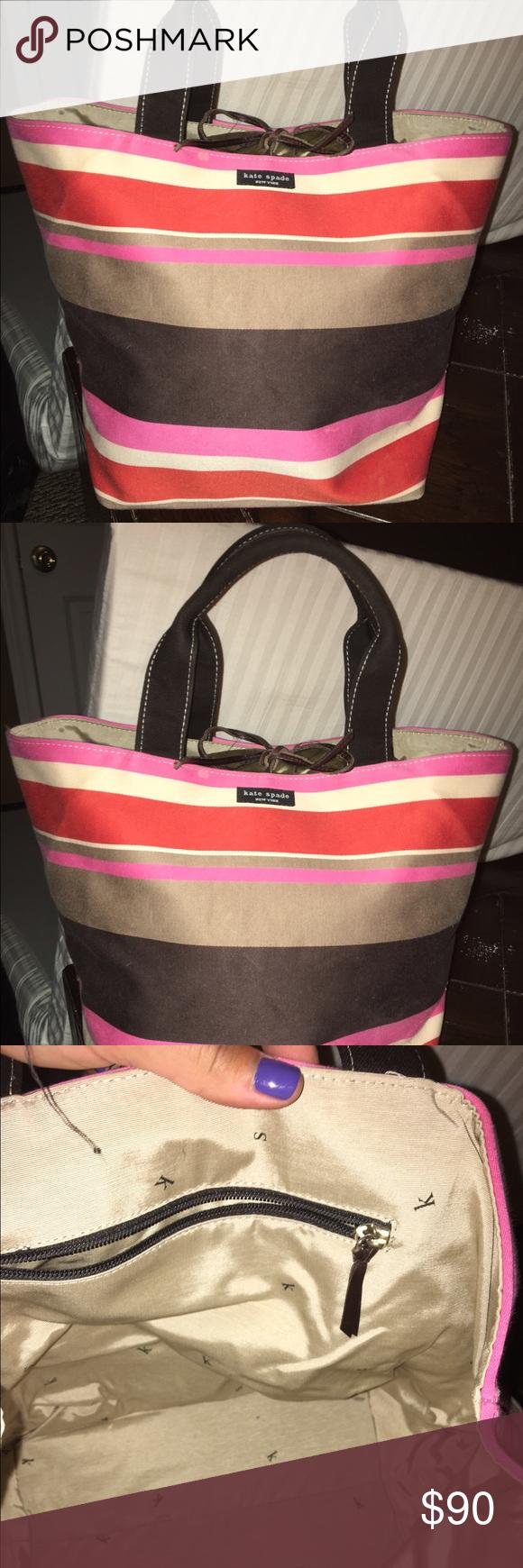 Kate Spade Bag Vintage striped Kate Spade bucket bag. Great condition! kate spade Bags Shoulder Bags