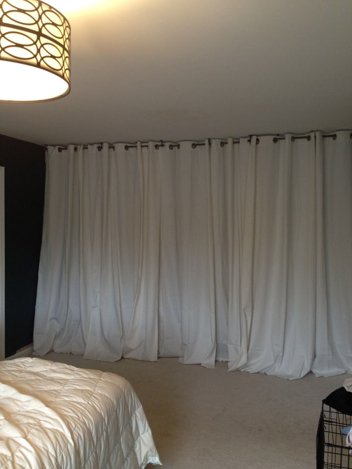 The Bedroom Divider Curtains An Easy Way To Create A Private