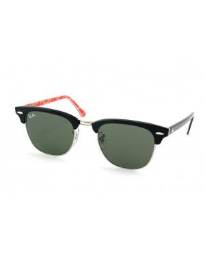 Ray-Ban俱乐部主任RB 3016 1016 small noir sur rouge rayban clubmaster lunettes  pas cher 2ed1ec72fe98