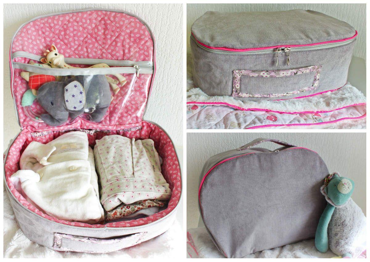petite couture pour mon b b une jolie valisette de naissance baby diy pinterest petite. Black Bedroom Furniture Sets. Home Design Ideas