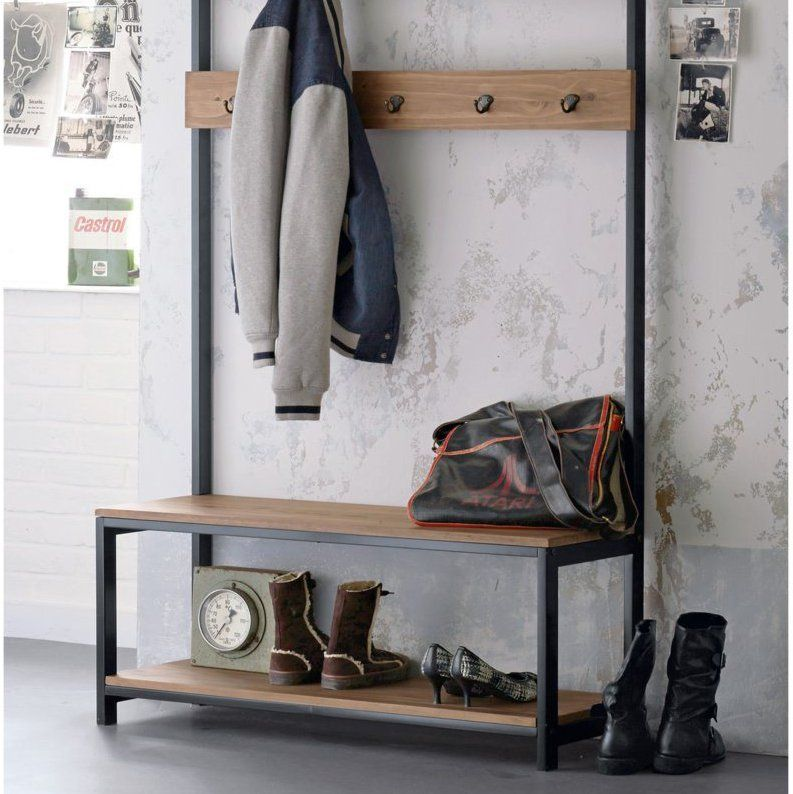 une meuble pour l 39 entr e la redoute int rieurs en bois avec banquette et pat re sur marie. Black Bedroom Furniture Sets. Home Design Ideas
