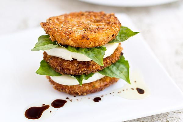instant summer upgrade: fried caprese salad