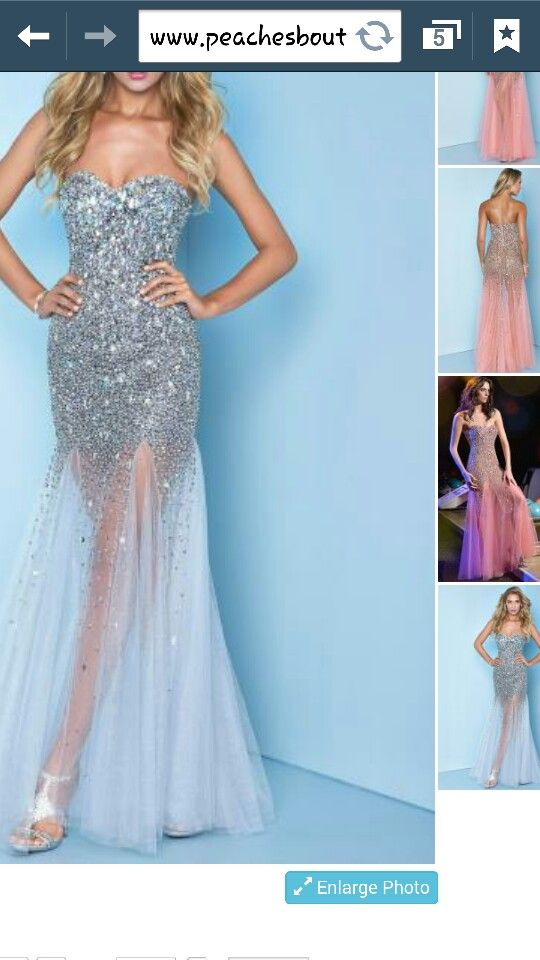Love this one! Blue sparkly prom dress