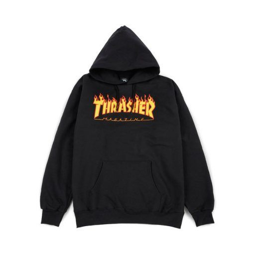 Thrasher Magazine Flame Hoodie black в 2020 г | Подростковые