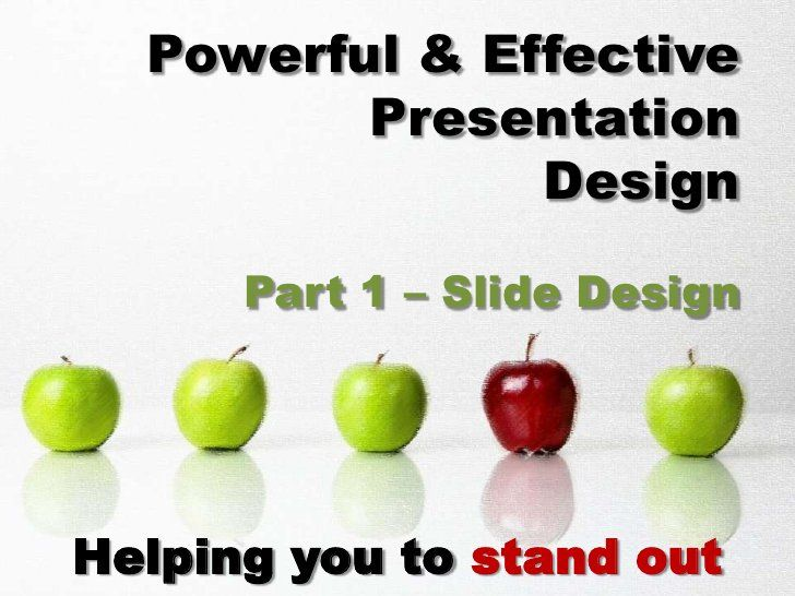 simple powerful effective powerpoint presentation slide design by