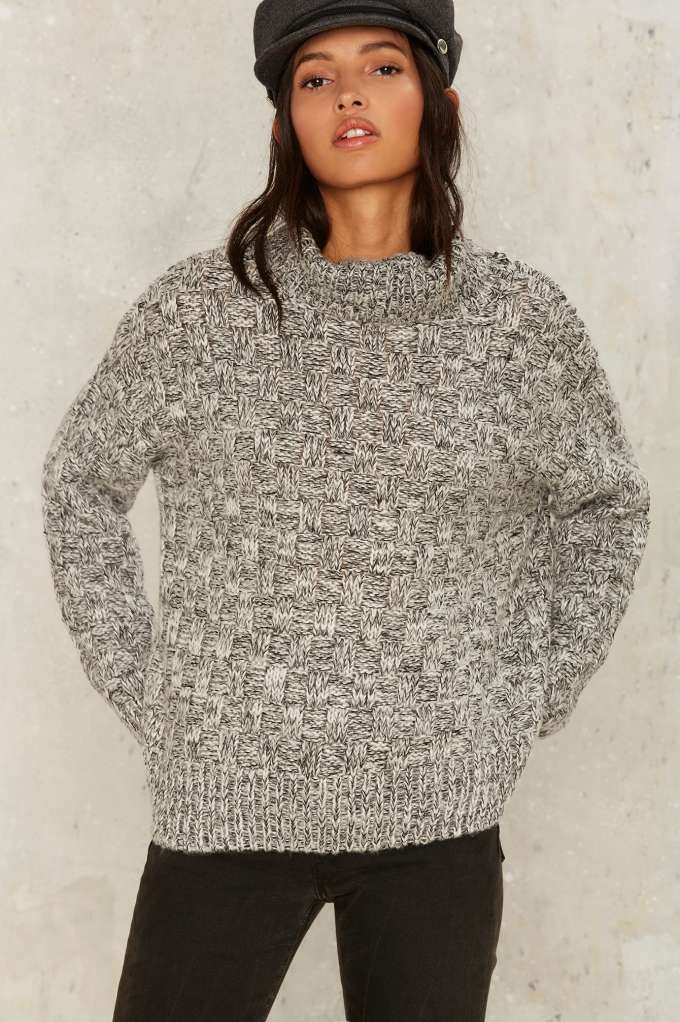 0b24cd3ff69 J.O.A. Heathered the Storm Turtleneck Sweater