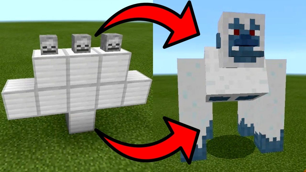 How To Spawn The Yeti Boss In Minecraft Pocket Edition Yeti Boss Addon Minecraft Houses Diy Minecraft Minecraft Crafts