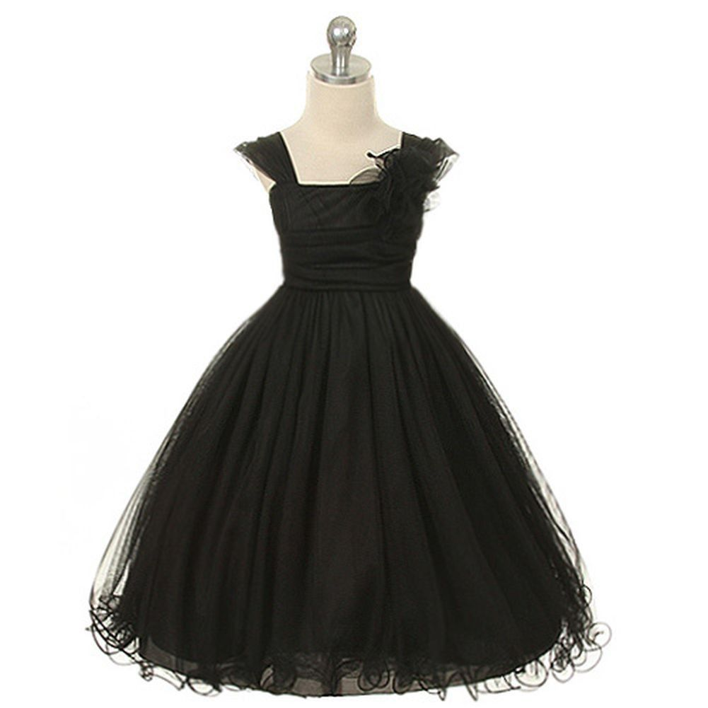 Dramatic girls special occasion dress has empire waist roughed