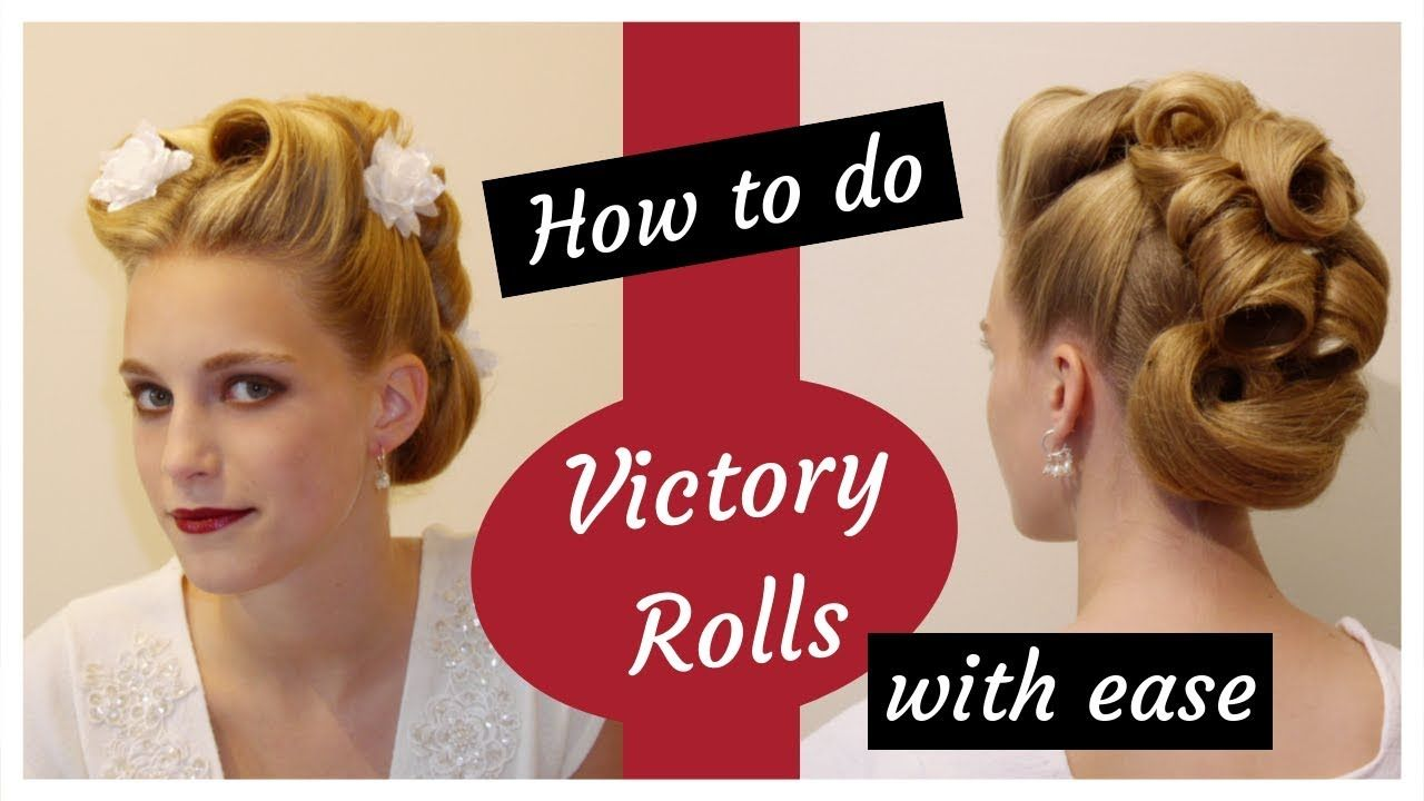 Victory Rolls Hairstyle Updo Tutorial Https Www Udemy Com Learn These Retro Vintage Inspired Hairstyles Coup Updo Tutorial Roll Hairstyle Victory Rolls Updo