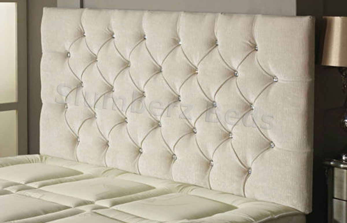 carlton buttoned chenille headboard ivory bedroom pinterest