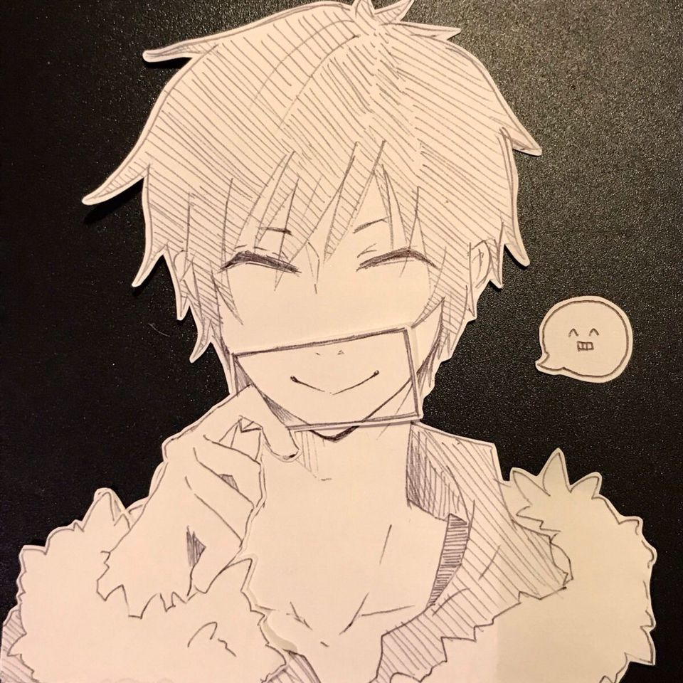Izaya's fake smile.... Because he is more sensitive the