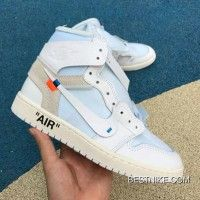 4da3c512bef406 Women OFF-white Air Jordan X 1 OW Collaboration All White AQ8296-100 ...