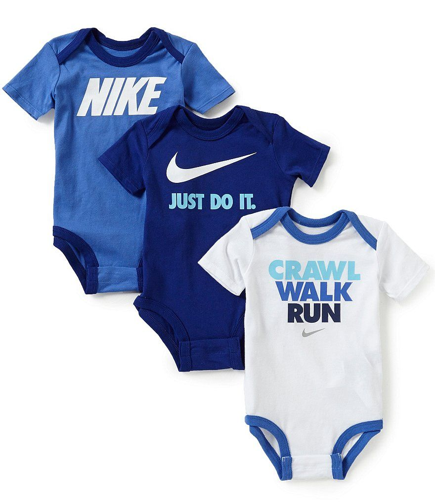 Nike Baby Boys Newborn 12 Months Bodysuit 3 Pack Baby Boy Clothes Nike