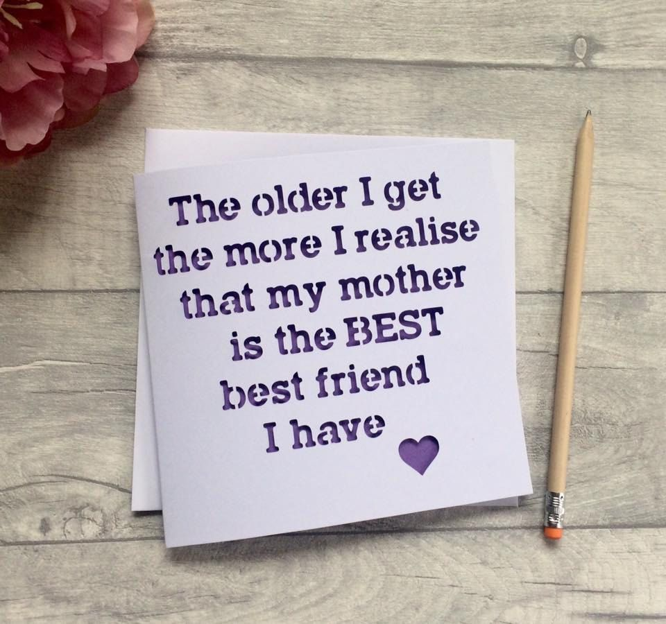 Mothers Day Card For Mum Birthday Mothering Sunday Gift Idea Friend By AprilDaysDesigns On