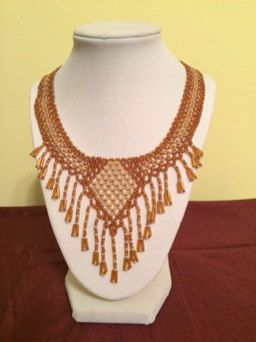Exquisite Statement Necklace with Beaded Fringe by LovelyNecklaces