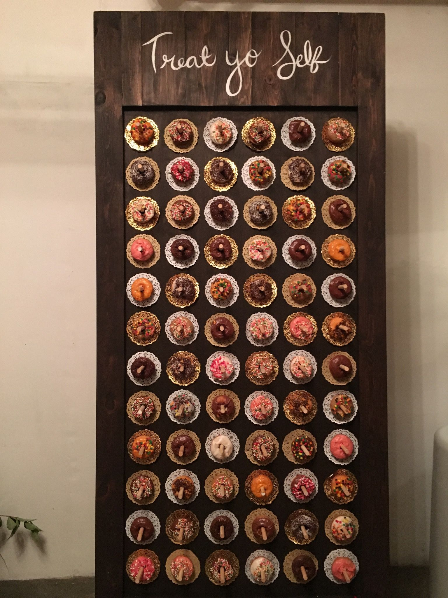 Donut Wall Doughnuts Wedding Dessert Going To The Chapel