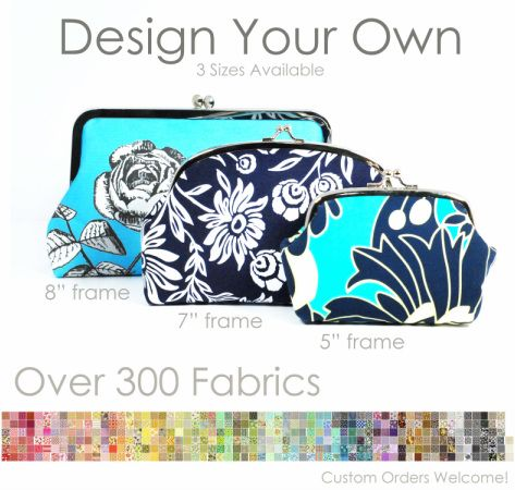 Local artist making custom clutch purses. I bought several from her for wedding presents.
