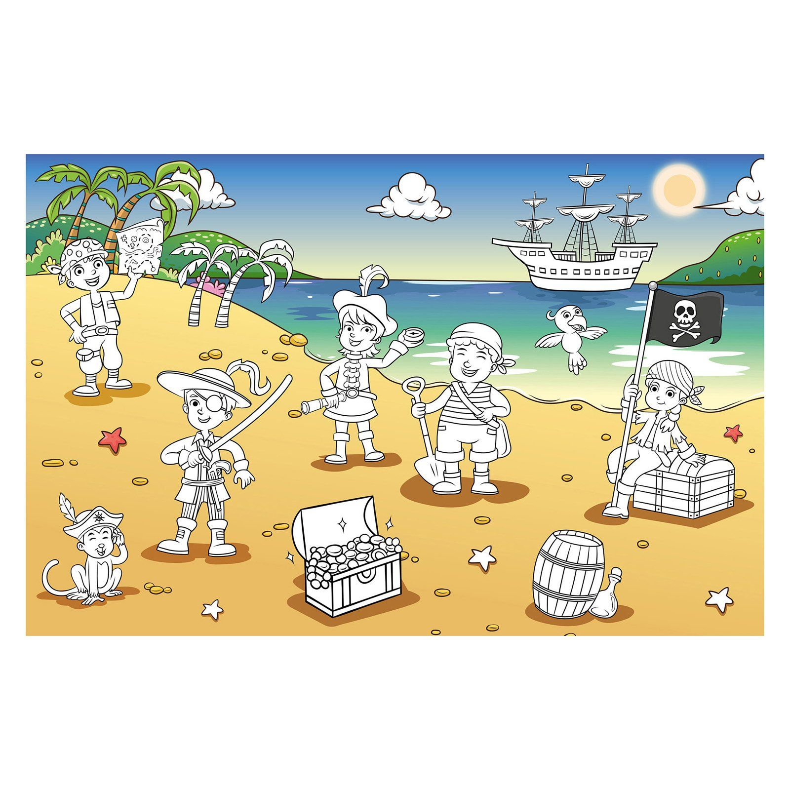 Ideal Decor Pirate Bay Wall Mural - DM606 | Products | Pinterest ...