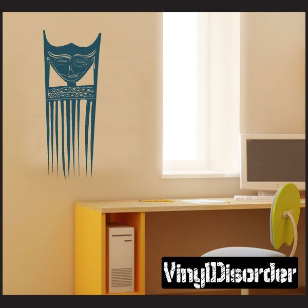African Art Mask Wall Decal - Vinyl Decal - Car Decal - AL060 ...
