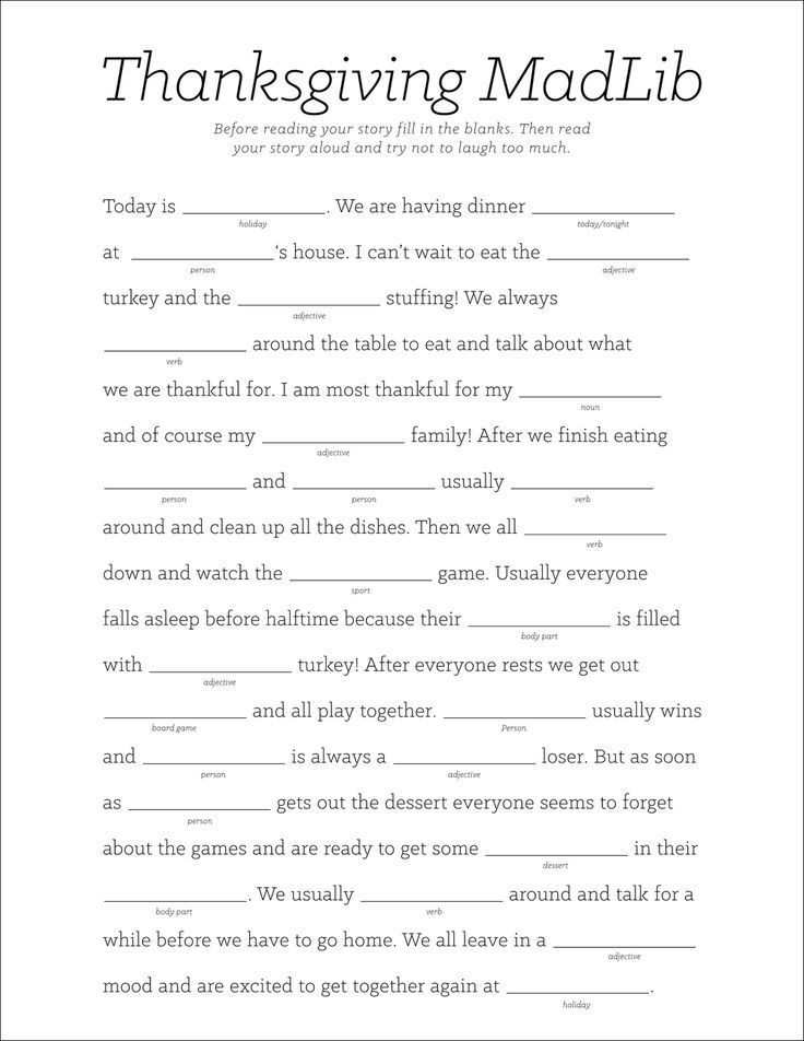 graphic regarding Thanksgiving Mad Libs Printable named Thanksgiving Crazy Libs Printable 17 Easiest illustrations or photos regarding Insane