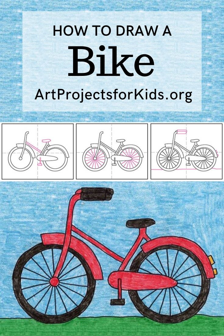 How to Draw a Bike | Drawings, Easy art projects, Bike art