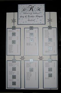 Seating chart made for one of my clients winter theme also best ideas images on pinterest bridal parties rh