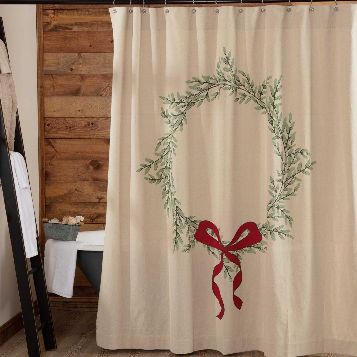 Winter Tidings Shower Curtain Piper Classics Christmas Shower