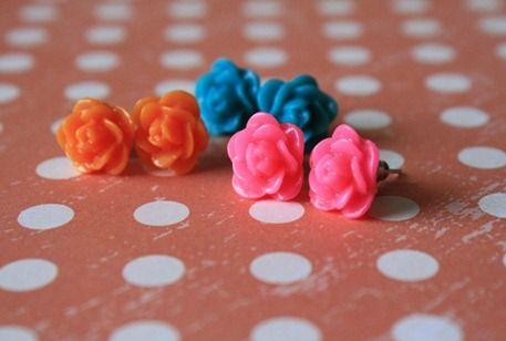 resin earrings how to make