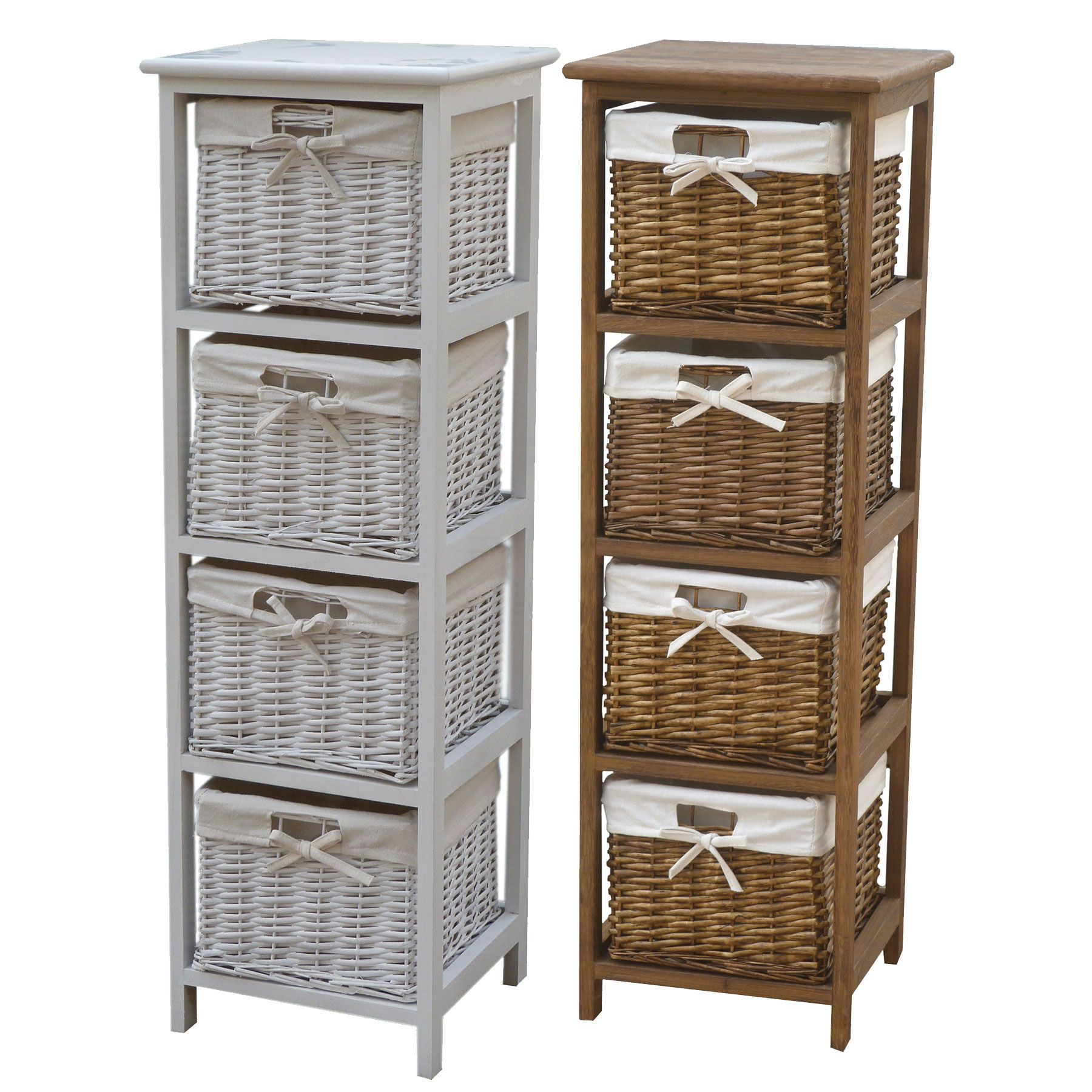 Wicker Baskets Are A Great Storage Solution. And Combined With These Wooden  Storage Tallboys They Will Make Your Home Look Tidier, Cosier And Warmer.