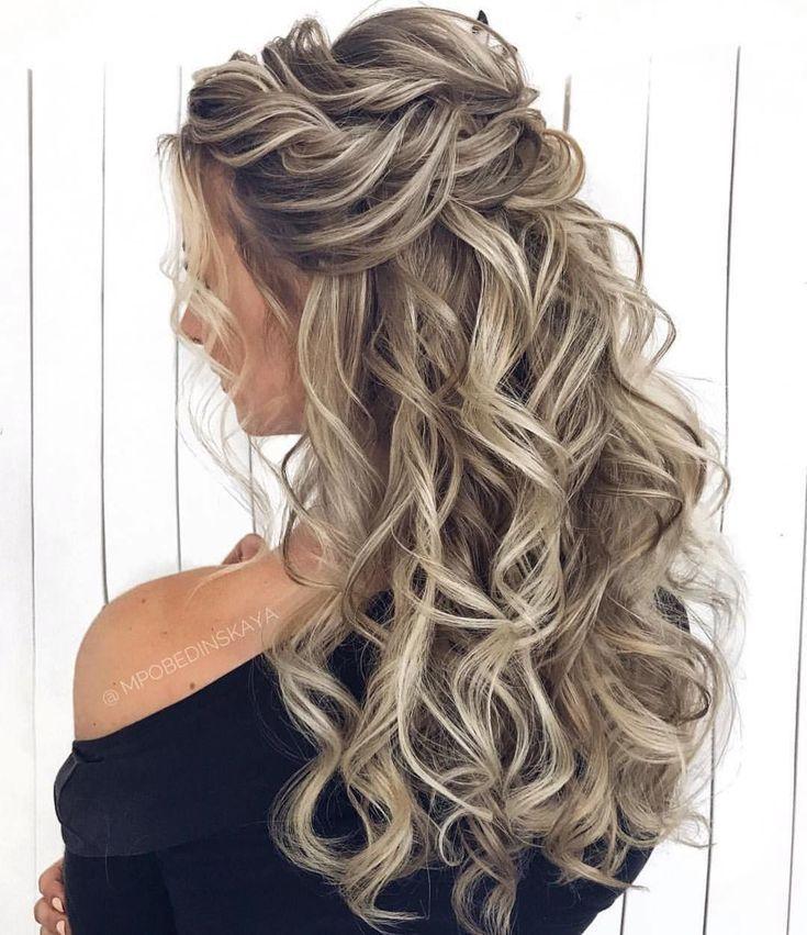 Frisuren Wunderschone 39 Wunderschone Half 39 Wunderschone Half Up Half Down Frisuren Down Hairstyles Long Hair Styles Wedding Hair Down
