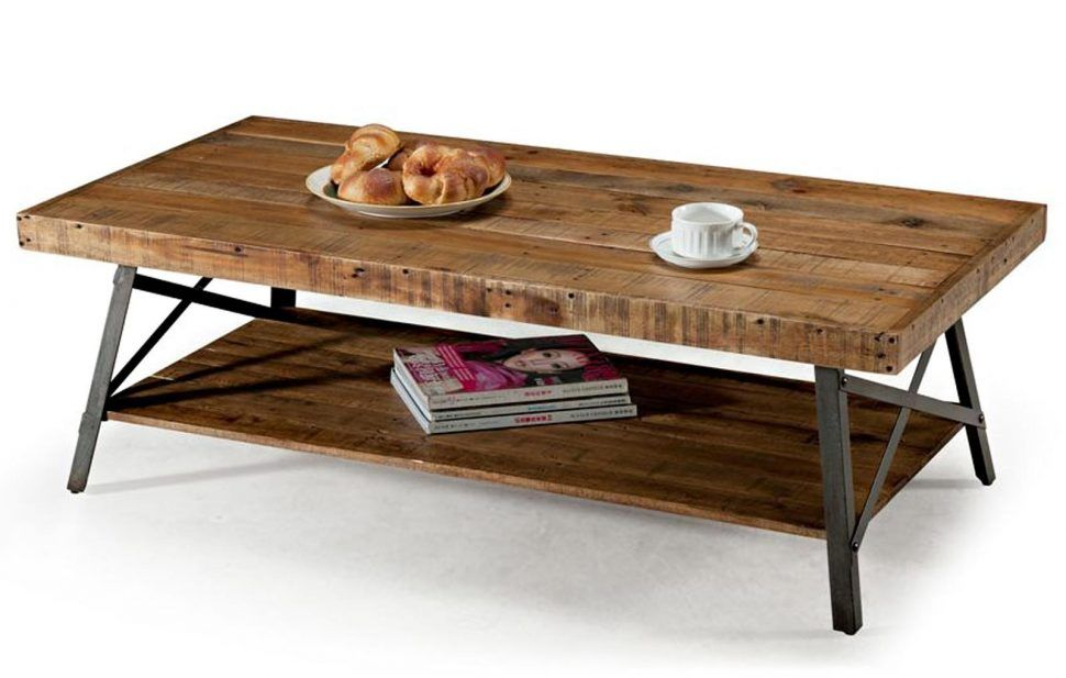 Remarkable Rustic Wood And Iron Coffee Table Living Room Ott