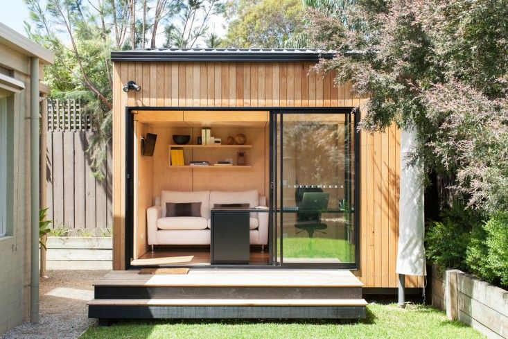 Outbuilding Of The Week An Instant Backyard Room For Work And Play Gardenista Shed Design Livable Sheds Building A Shed