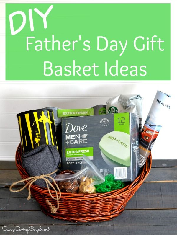 diy father 39 s day gift basket with dove men care. Black Bedroom Furniture Sets. Home Design Ideas