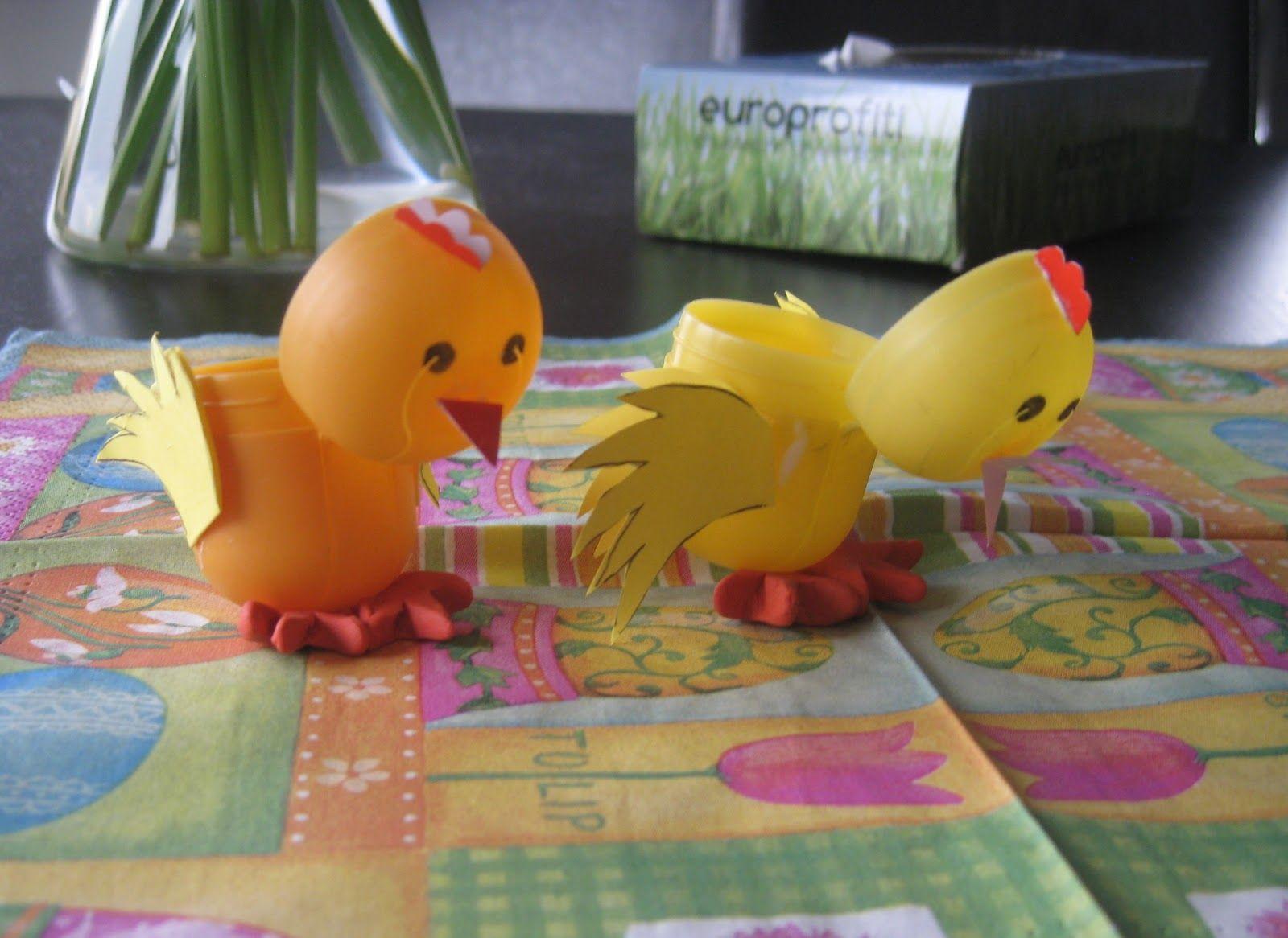Kurczaki Z Jajek Niespodzianek Upcykling Ozdoby Swiateczne